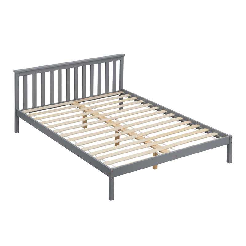 Linnelle FSC Certified Solid Wood Bed Frame in Grey UK King 4