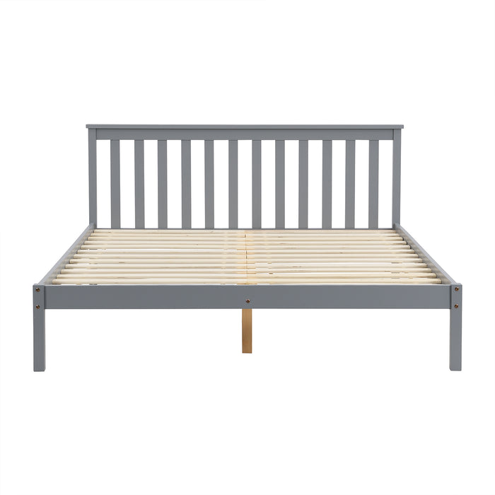 Linnelle FSC Certified Solid Wood Bed Frame in Grey UK King 5