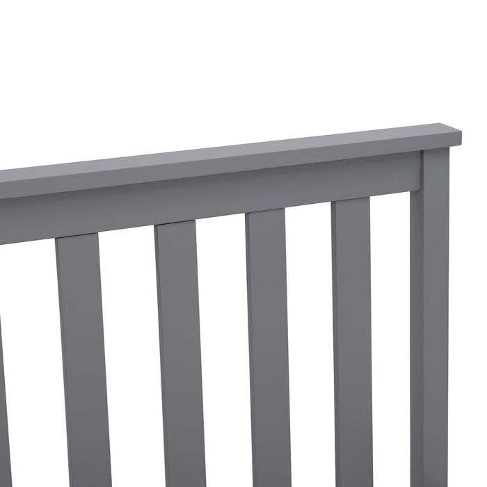 Linnelle FSC Certified Solid Wood Bed Frame in Grey UK King 7