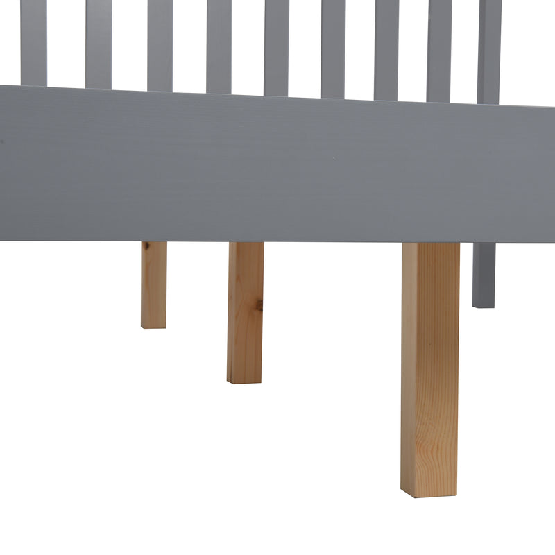 Linnelle FSC Certified Solid Wood Bed Frame in Grey UK King 9