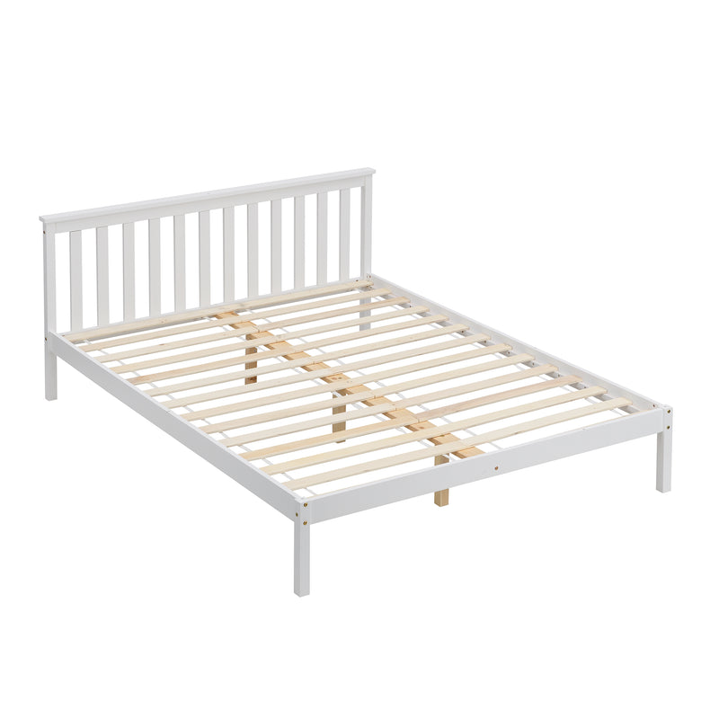 Linnelle FSC Certified Solid Wood Bed Frame in White 4