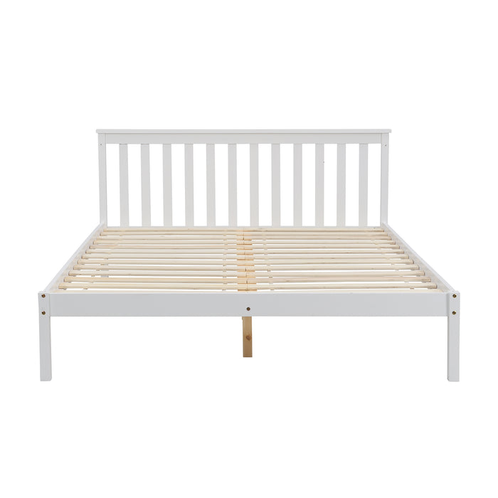 Linnelle FSC Certified Solid Wood Bed Frame in White 5