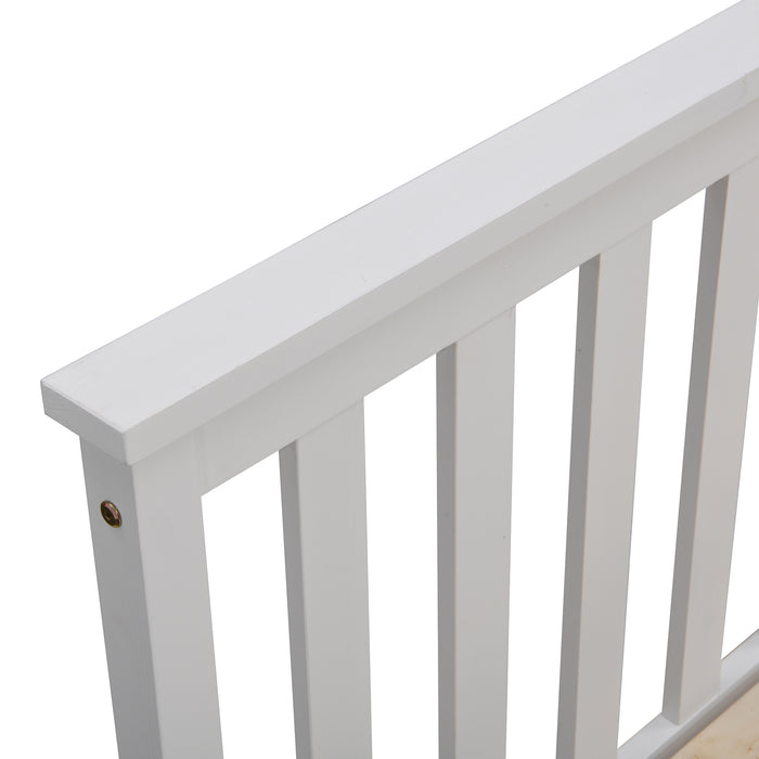 Linnelle FSC Certified Solid Wood Bed Frame in White 7