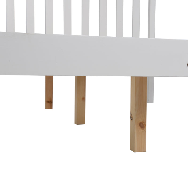 Linnelle FSC Certified Solid Wood Bed Frame in White 9