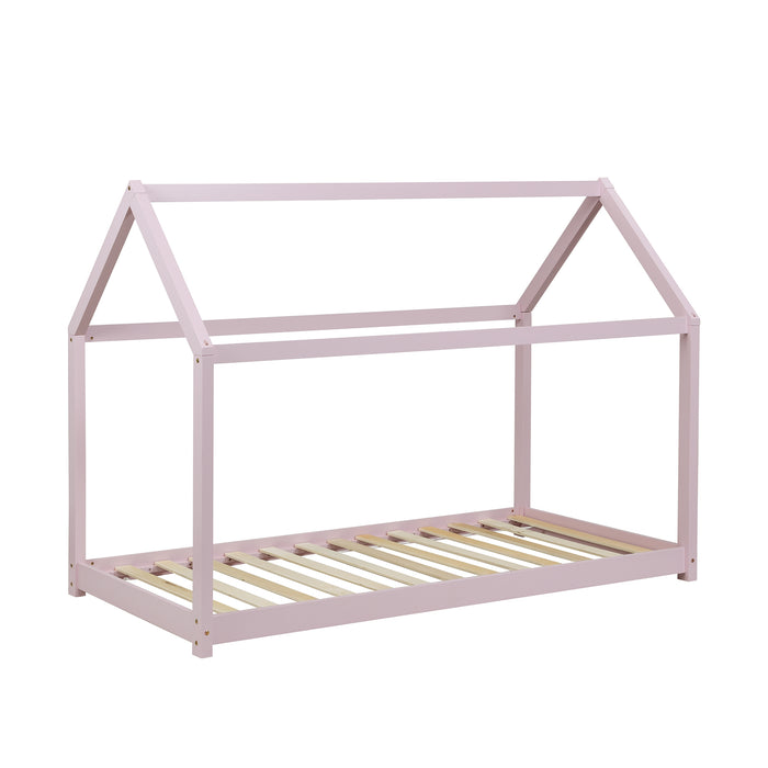 Bethwin FSC Certified Solid Wood House Bed in Pink 3