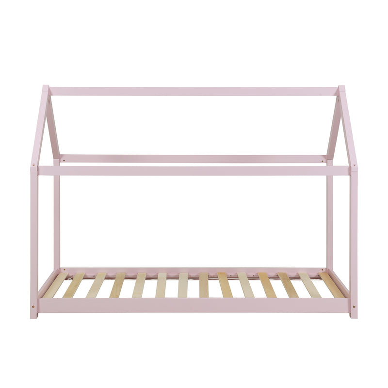 Bethwin FSC Certified Solid Wood House Bed in Pink 4