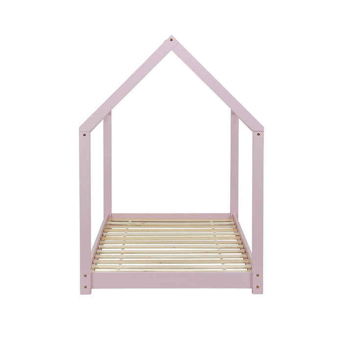 Bethwin FSC Certified Solid Wood House Bed in Pink 6