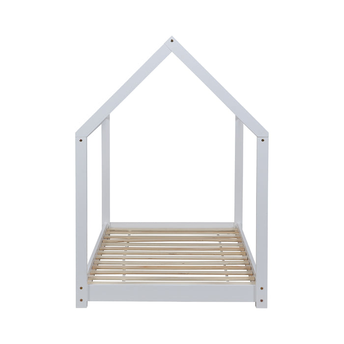 Bethwin FSC Certified Solid Wood House Bed in White 6