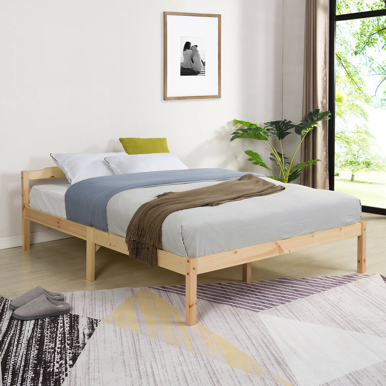 Curran FSC-Certified Solid Wood Bed Frame in Natural UK Sizes