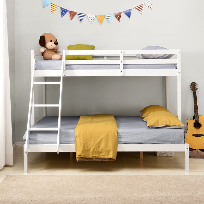Sunnybrook FSC Certified Solid Wood Triple Bunk bed in White 2