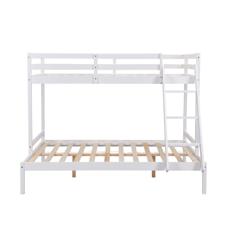 Sunnybrook FSC Certified Solid Wood Triple Bunk bed in White 3