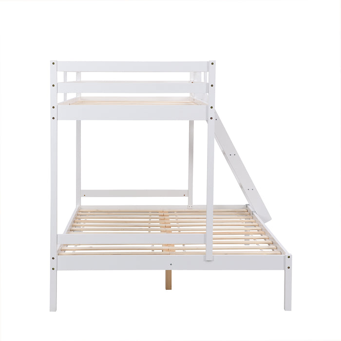 Sunnybrook FSC Certified Solid Wood Triple Bunk bed in White 4