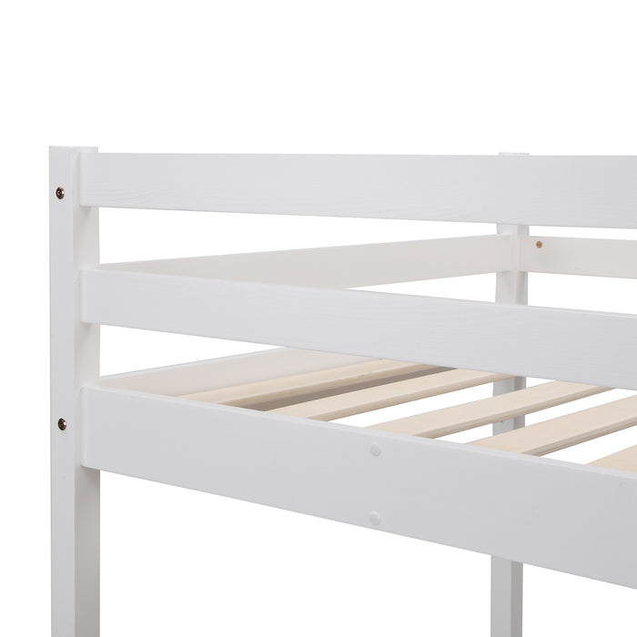 Sunnybrook FSC Certified Solid Wood Triple Bunk bed in White 6