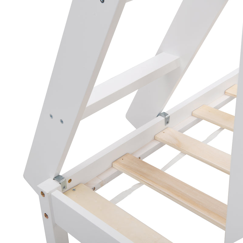 Sunnybrook FSC Certified Solid Wood Triple Bunk bed in White 8