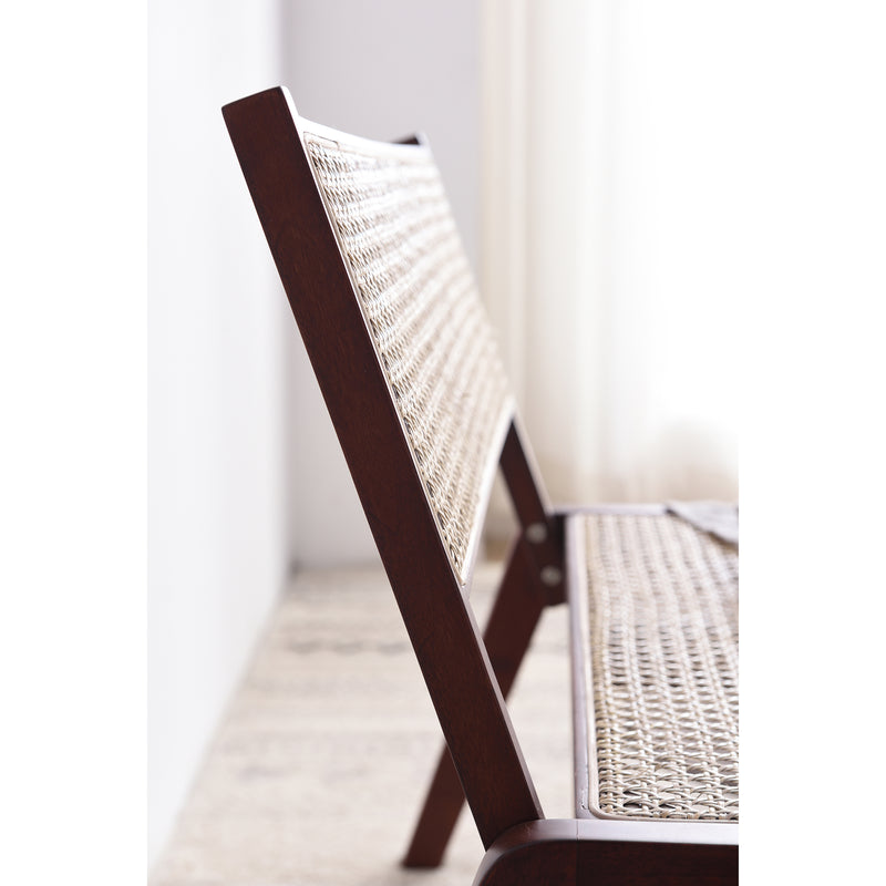 Pembroke Solid Wood Rattan Low Lounge Chair Walnut 6