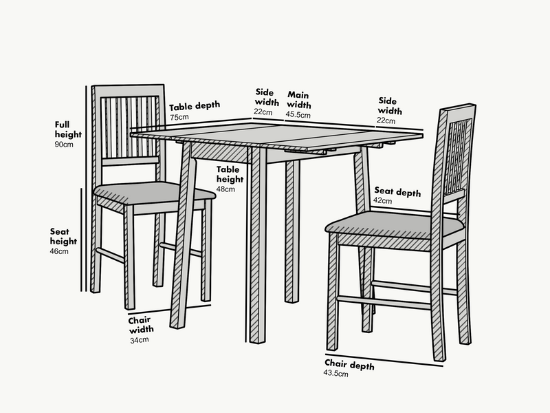 Malden Solid Wood Extending Dining Table set with 2 Chairs 3