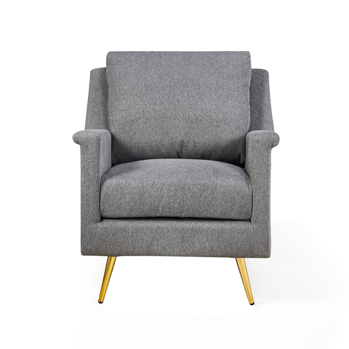 Howitt Mid Century Style Armchair with Stainless Steel Base 2