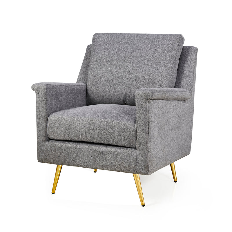 Howitt Mid Century Style Armchair with Stainless Steel Base 3