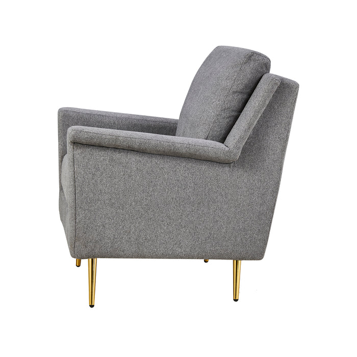 Howitt Mid Century Style Armchair with Stainless Steel Base 5