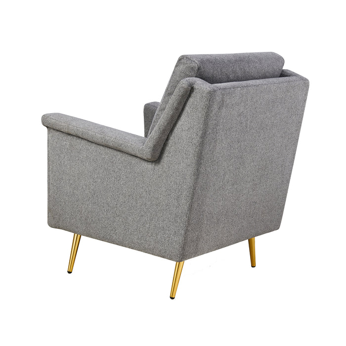 Howitt Mid Century Style Armchair with Stainless Steel Base 6