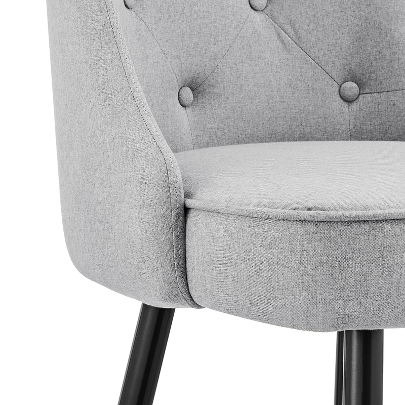 Kempton Pair of Bar Stools in Grey Fabric 9