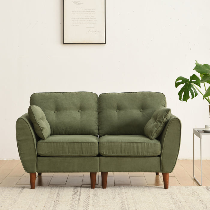 Brooks Sofa range in Green Suede Effect 3