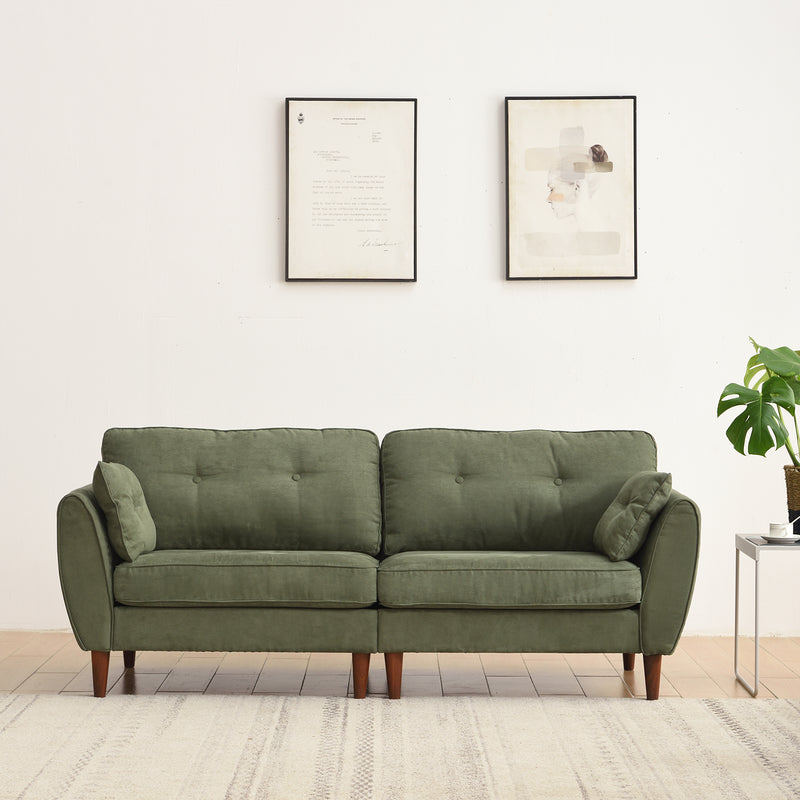 Brooks Sofa range in Green Suede Effect 5