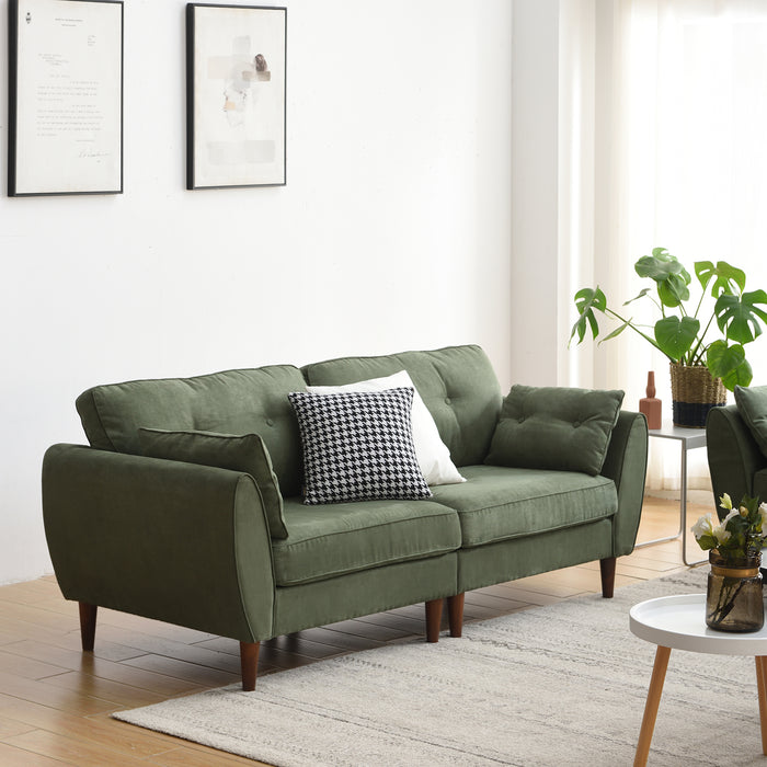 Brooks Sofa range in Green Suede Effect 6