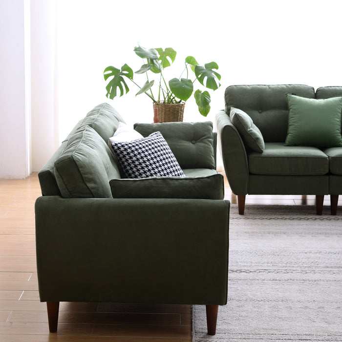 Brooks Sofa range in Green Suede Effect 10