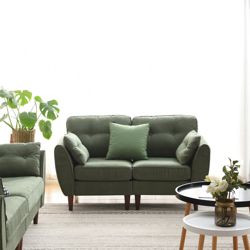 Brooks Sofa range in Green Suede Effect 11