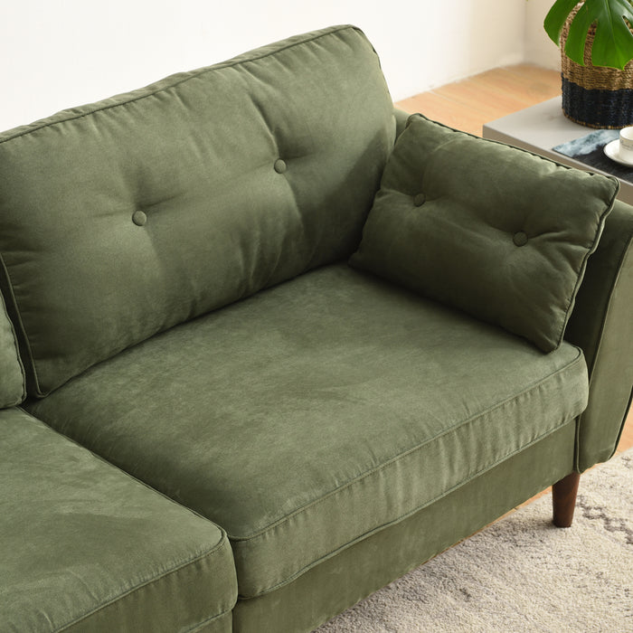 Brooks Sofa range in Green Suede Effect 12