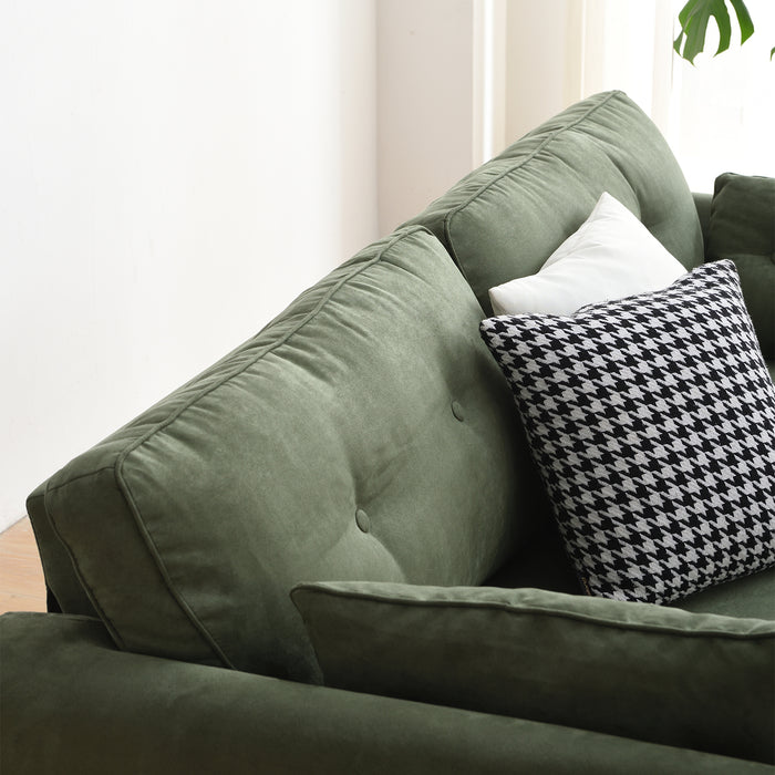 Brooks Sofa range in Green Suede Effect 14
