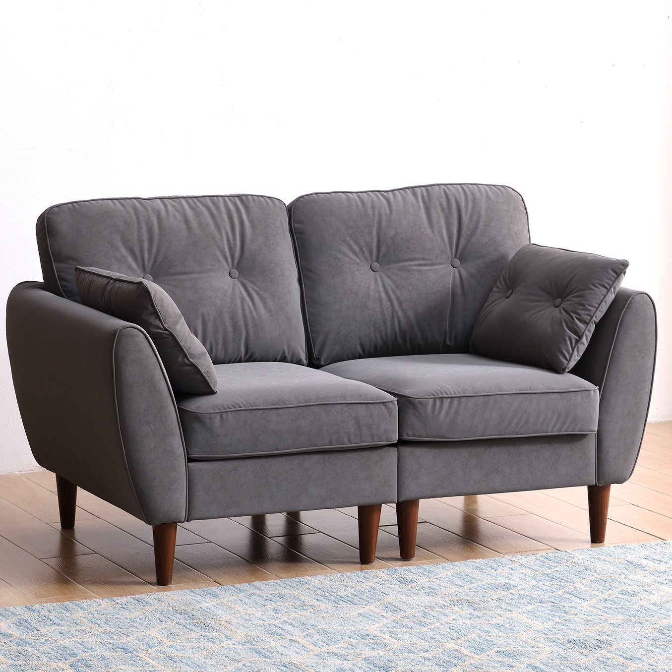 Brooks Sofa range in Grey PU Leather 2-seater option
