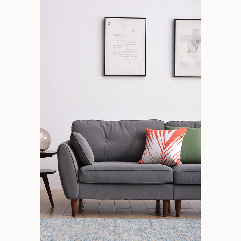 Brooks Sofa range in Grey PU Leather 10