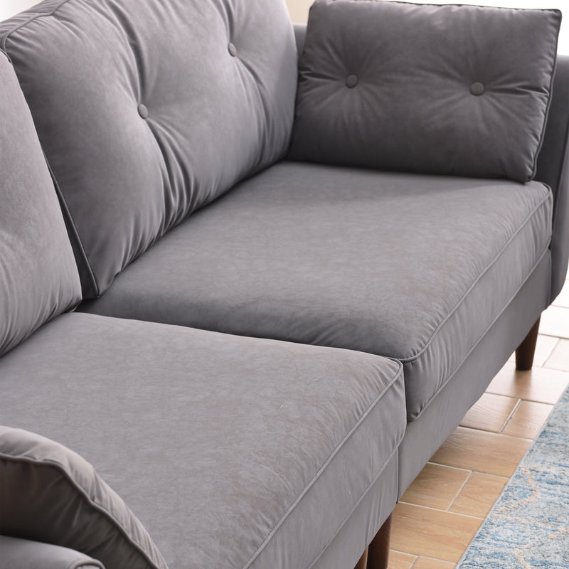 Close up of the seats on Brooks Sofa