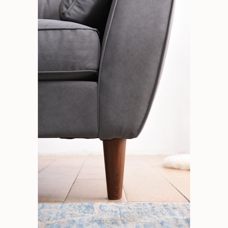 Front on view of Brooks Sofa leg