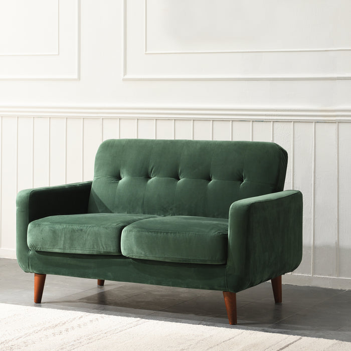 Clarence sofa range in Green Velvet 1