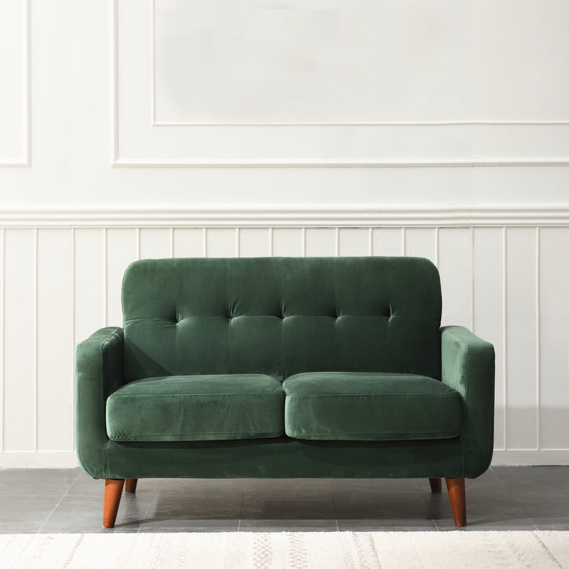 Clarence sofa range in Green Velvet 7