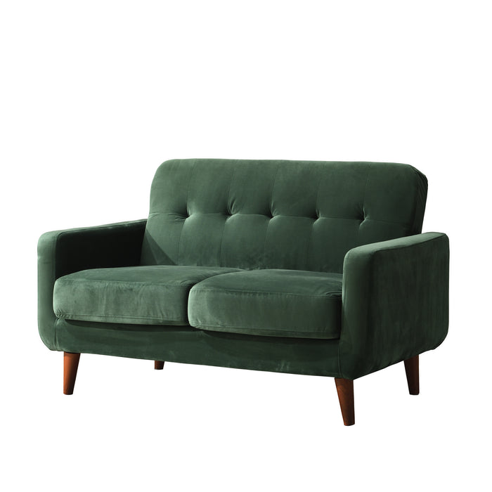 Clarence sofa range in Green Velvet 8