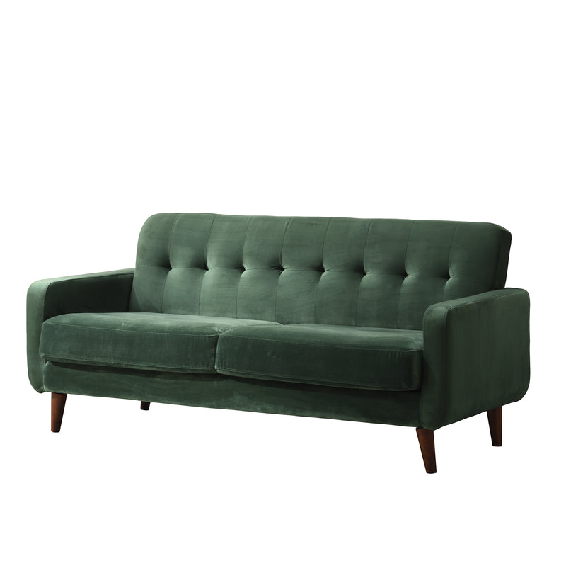 Clarence sofa range in Green Velvet 5