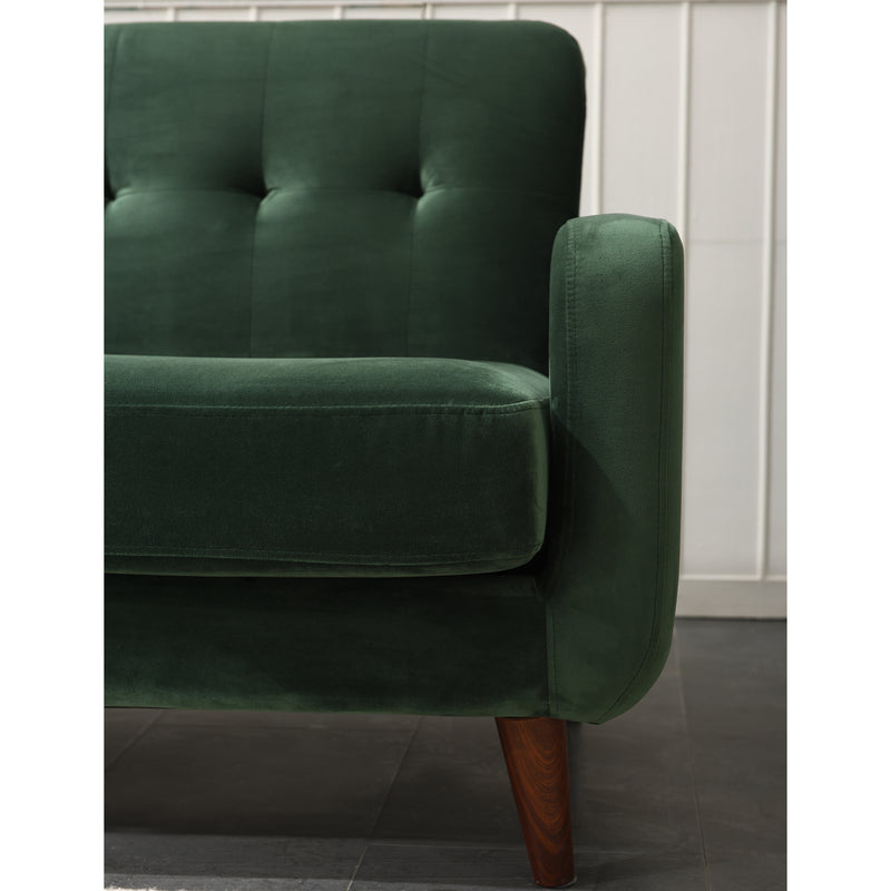 Clarence sofa range in Green Velvet 11