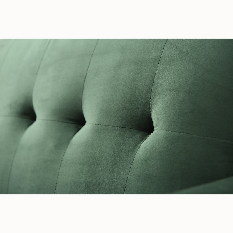 Clarence sofa range in Green Velvet 12