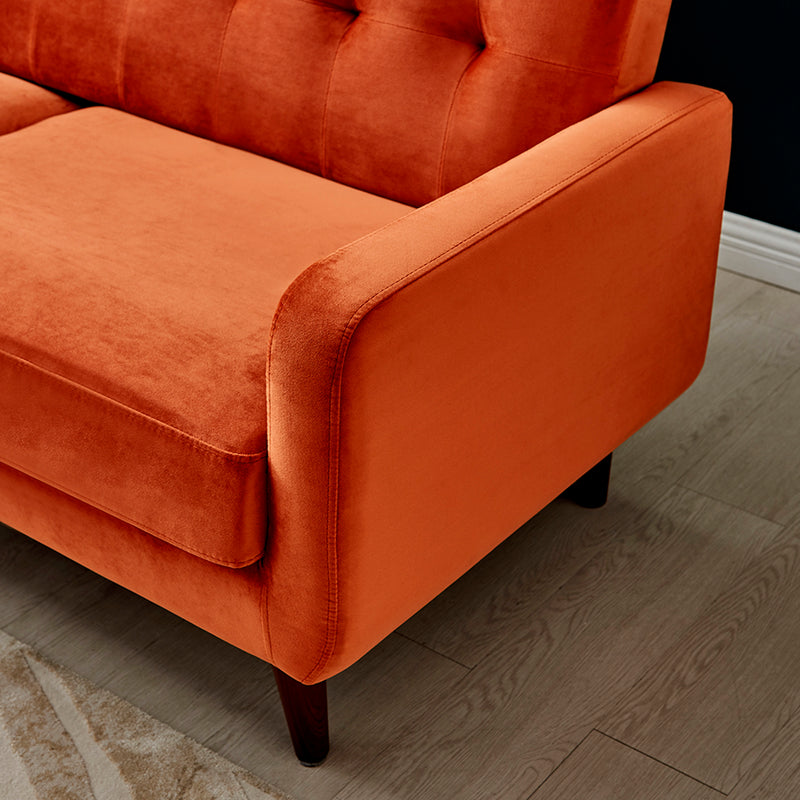 Clarence Sofa Range in Burnt Orange Velvet