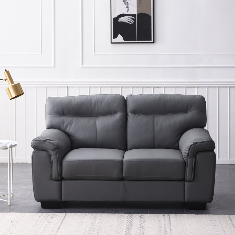 Meriden sofa range in Grey PU Leather 5
