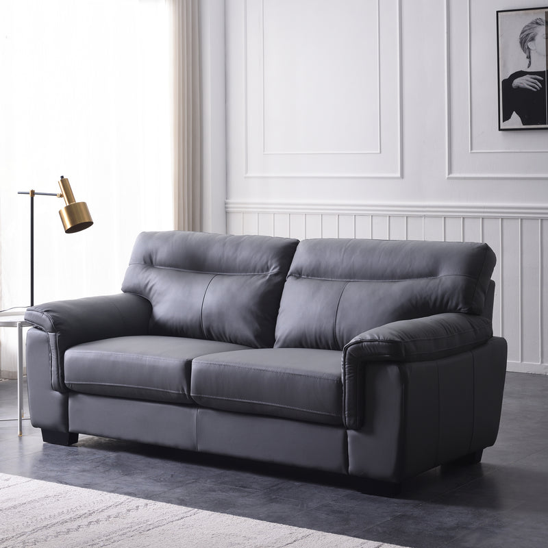 Meriden sofa range in Grey PU Leather 4