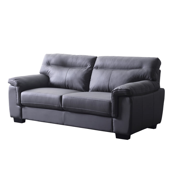 Meriden sofa range in Grey PU Leather 3