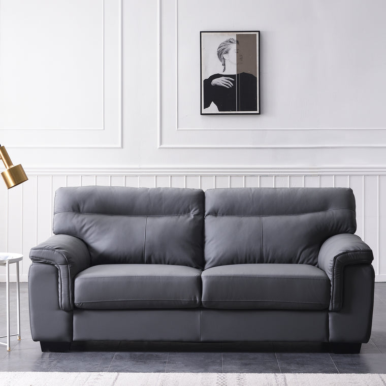 Meriden Sofa range in Grey PU Leather