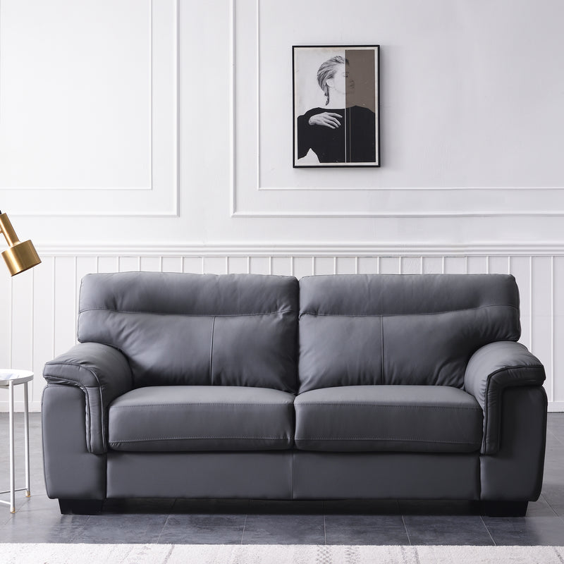 Meriden sofa range in Grey PU Leather 2