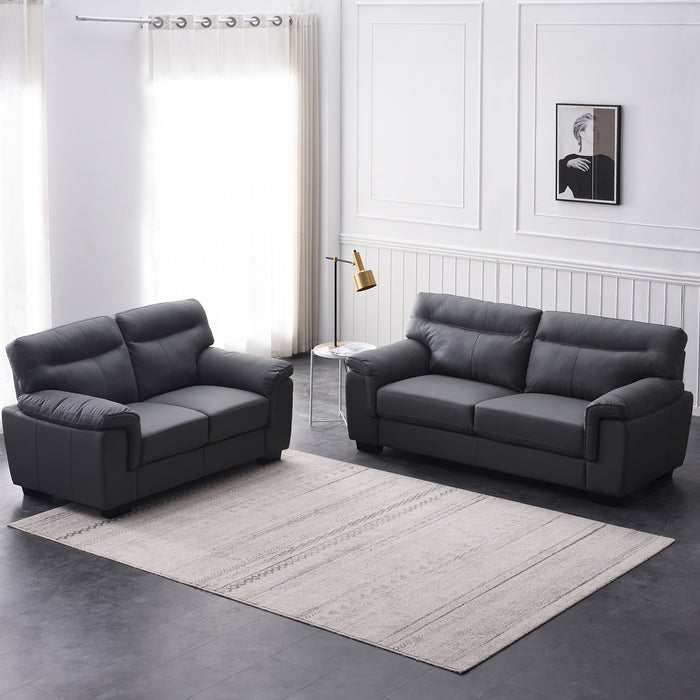 Meriden sofa range in Grey PU Leather 6