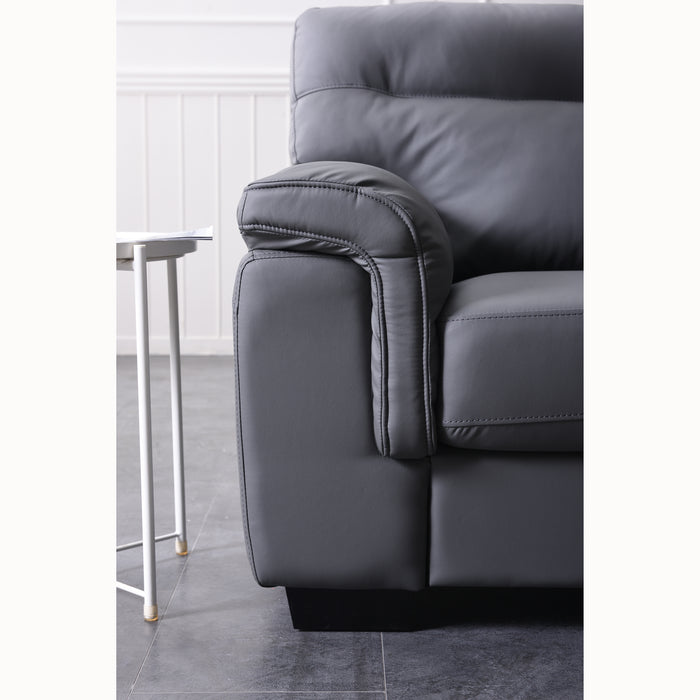 Meriden sofa range in Grey PU Leather 7